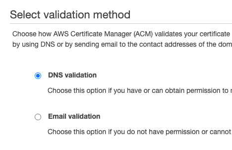 dns validation