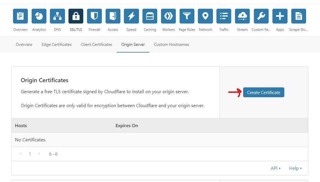 Origin server on cloudflare
