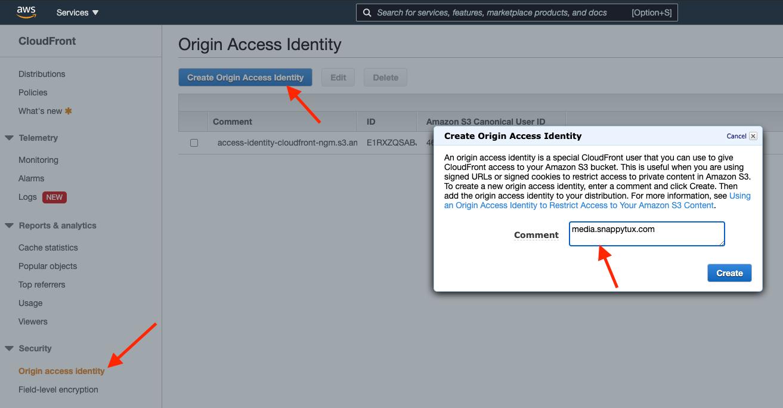 create-Origin-Access-Identity
